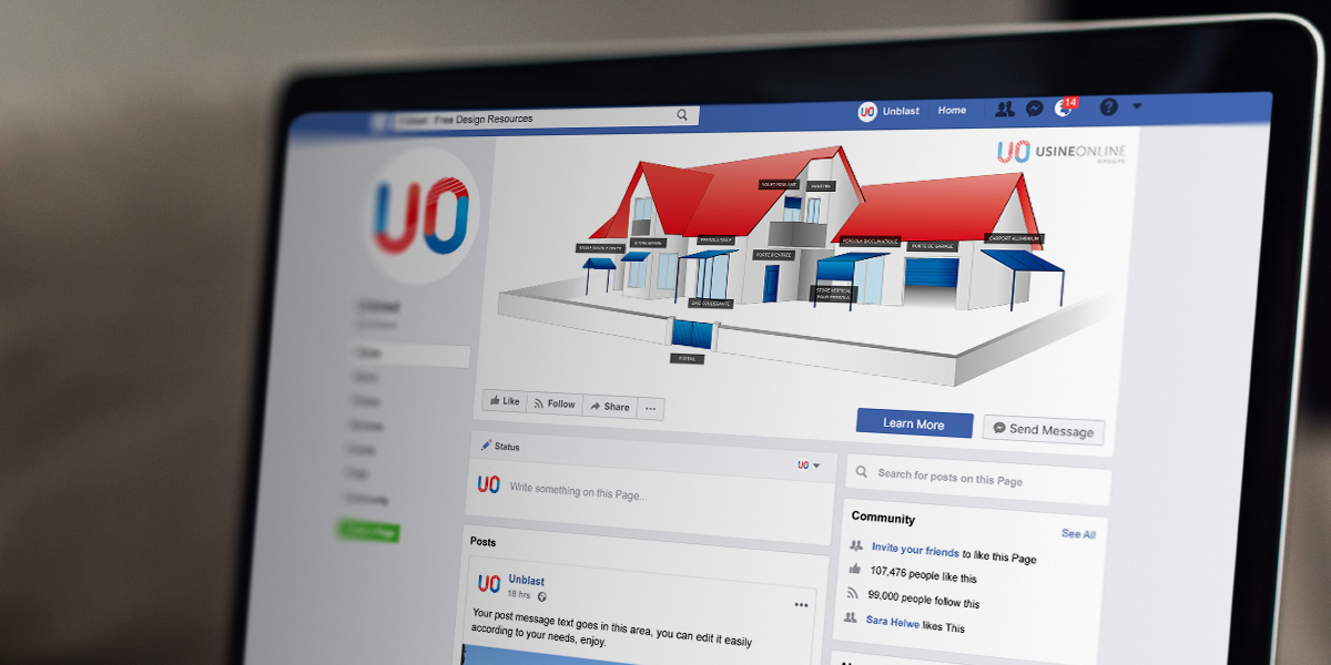 Usine Online - Illustration Facebook